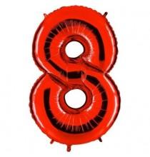 Ballon Géant Alu Rouge Chiffre 8 Ans Fête d'Anniversaire