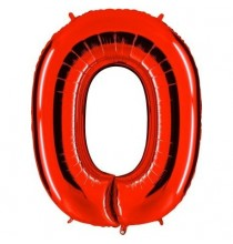 Ballon Géant Alu Rouge Chiffre 0 An Fête d'Anniversaire