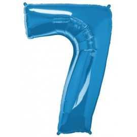 Ballon Géant Alu Bleu 7 Ans Fête d'Anniversaire