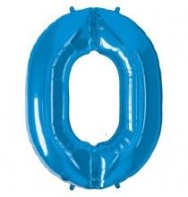 Ballon Géant Alu Bleu 0 An Fête d'Anniversaire