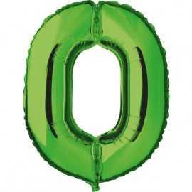 Ballon Géant Alu Vert 0 An Fête d'Anniversaire