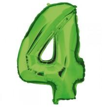 Ballon Géant Alu Vert 4 Ans Fête d'Anniversaire
