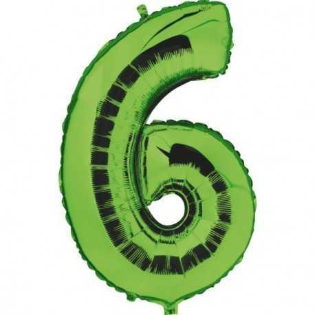 Ballon Géant Alu Vert 6 Ans Fête d'Anniversaire