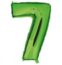 Ballon Géant Alu Vert 7 Ans Fête d'Anniversaire