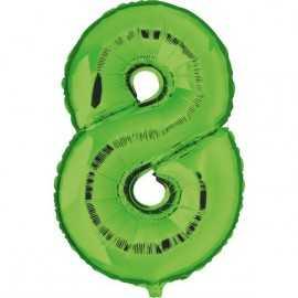 Ballon Géant Alu Vert 8 Ans Fête d'Anniversaire