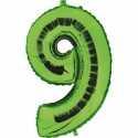 Ballon Géant Alu Vert 9 Ans Fête d'Anniversaire