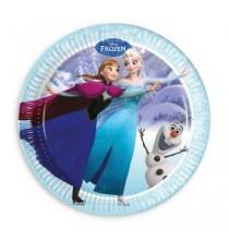Grandes Assiettes Reine des Neiges Disney pour Anniversaire et Fête Givrée