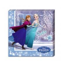 Serviettes en Papier Reine des Neiges Disney pour Anniversaire et Fête Givrée