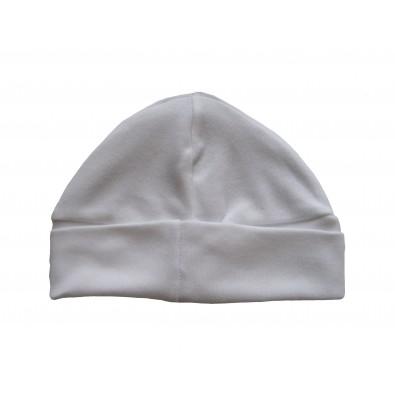 Bonnet blanc pour Bébé 100% coton 8bb90c3863c
