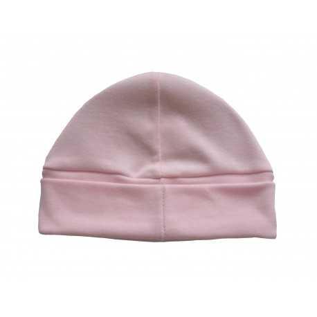 Bonnet bébé rose 100% coton