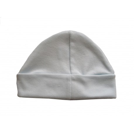 Bonnet bébé bleu 100% coton