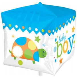 Ballon Hélium Cube 3D Baby Boy
