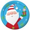 Grandes Assiettes Premium Père Noël en papier