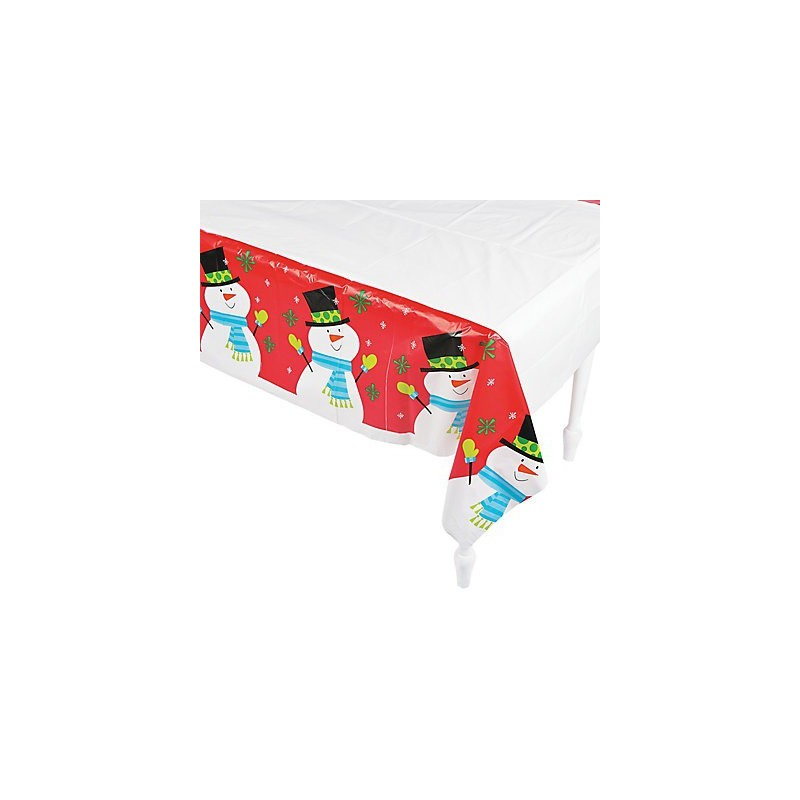grande nappe en plastique motif bonhomme de neige pour enfants. Black Bedroom Furniture Sets. Home Design Ideas