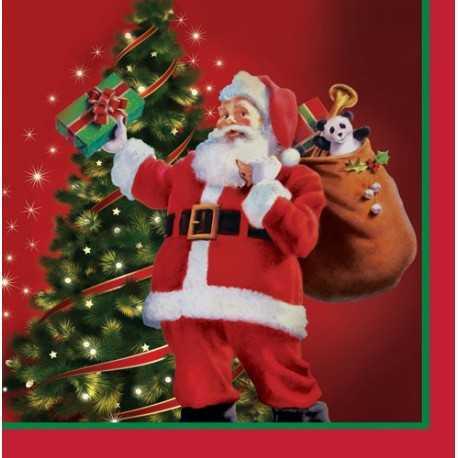 Grandes serviettes en papier Rétro Père Noël