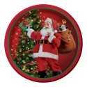 Petites Assiettes Premium Père Noël rétro en papier