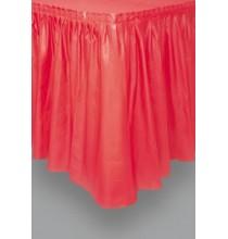 Jupe de table Plastique Rouge