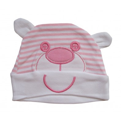 b152d4ab50c6e Bonnet fantaisie fille Ourson rose