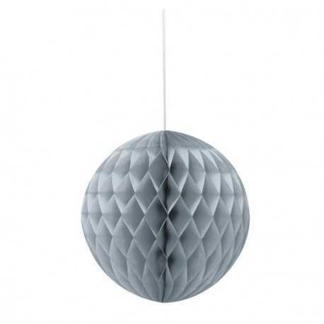 Boule Alvéolée Papier Gris 20,32 cm à l'unité