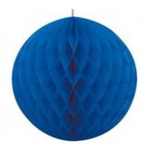 Boule Alvéolée Papier Bleu Royal 20,32cm à l'unité