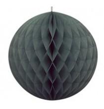 Boule Alvéolée Papier Noir 20,32 cm à l'unité