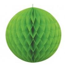 Boule Alvéolée Papier Vert 20,32 cm à l'unité