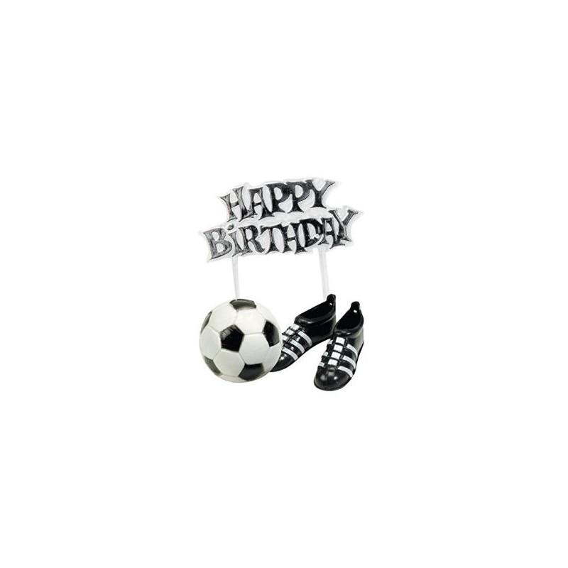 Kit d coration g teau football ballon chaussure et joyeux anniversaire - Decoration anniversaire football ...