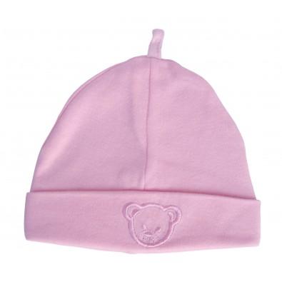 c77d0d31afe Bonnet rose pour bébé fille