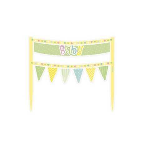 Décorations Guirlandes pour Gâteau Baby Pastel