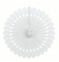 Rosace Eventail Blanc 40 cm Papier de Riz