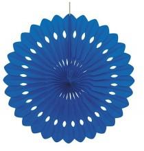 Rosace Eventail Bleu de fête 40 cm Papier de Riz