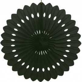 Grande Rosace Eventail Noir 40cm Papier de Riz