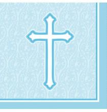 Serviettes en Papier Croix Baptême et Communion Garçon