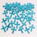 Confettis bleus Baptême Communion Croix