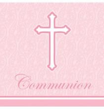 Serviettes en Papier Croix Communion Bleu Clair