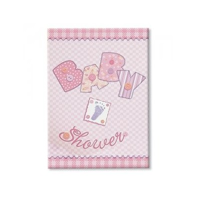 Invitation Baby Shower Rose + Enveloppe