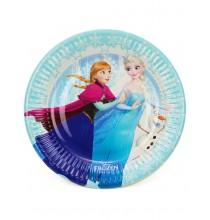 Petites Assiettes Reine des Neiges Disney pour Anniversaire et Fête Givrée