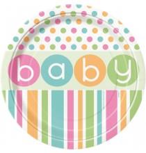 Petites Assiettes en Papier Baby Pastel