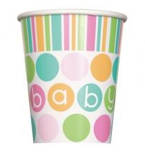 Gobelets en Papier Baby Pastel