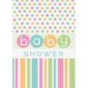 Invitation Baby Shower Pastel et enveloppe