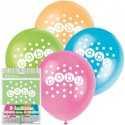8 Ballons Latex Baby Pastel