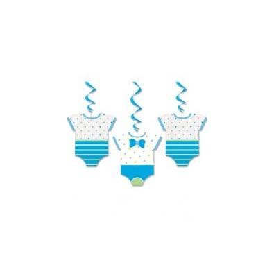 guirlandes suspendre baby gar on bleu avec body pois. Black Bedroom Furniture Sets. Home Design Ideas