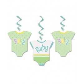 3 Guirlandes à Suspendre en forme de Body Pastel Déco Baby shower