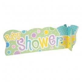Centre de Table Baby Shower Body Pastel Jaune et Vert Déco
