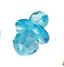 10 Bijoux Tétine bleu turquoise Effet Diamant