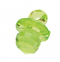 10 Bijoux Tétine vert Effet Diamant