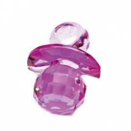 10 Bijoux Tétine violet Effet Diamant