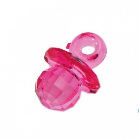 10 Bijoux Tétine rose Effet Diamant