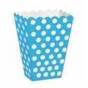 Boîtes A Pop Corn ou Bonbons Pois Bleu Clair