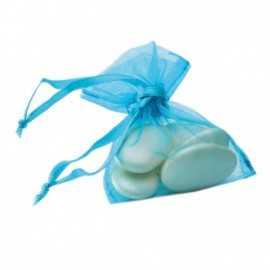 10 Sachets Ballotins Organza Bleu Turquoise à dragées